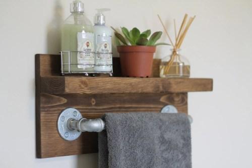 Medium Of Industrial Bathroom Shelf