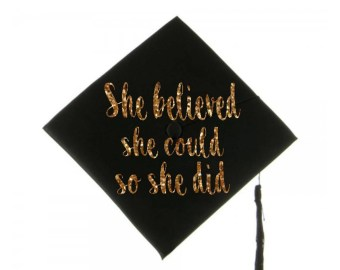 Graduation Cap Decal Decoration She Believed Could So Did Grad