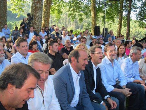 Louzán, Feijoo y Rajoy
