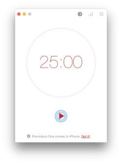 Pomodoro One OS X 6
