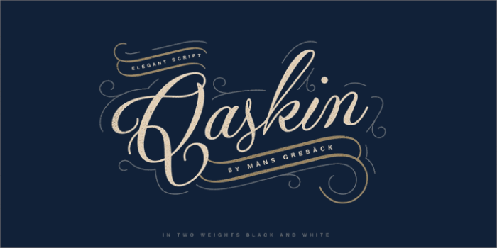 Qaskin Black Personal Use Font Download