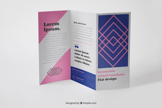 Brochure Mockup Vectors  Photos and PSD files   Free Download Corporate trifold brochure mockup