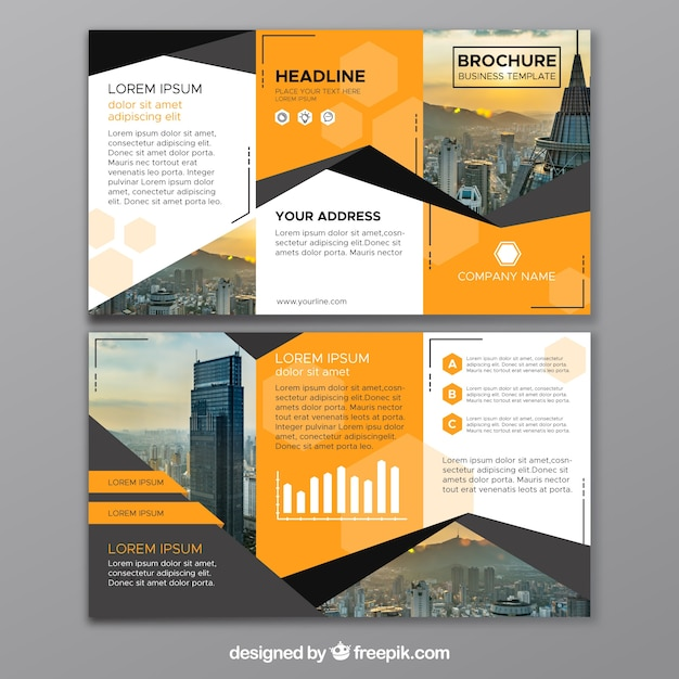 Trifold Brochure Vectors  Photos and PSD files   Free Download Abstract business trifold