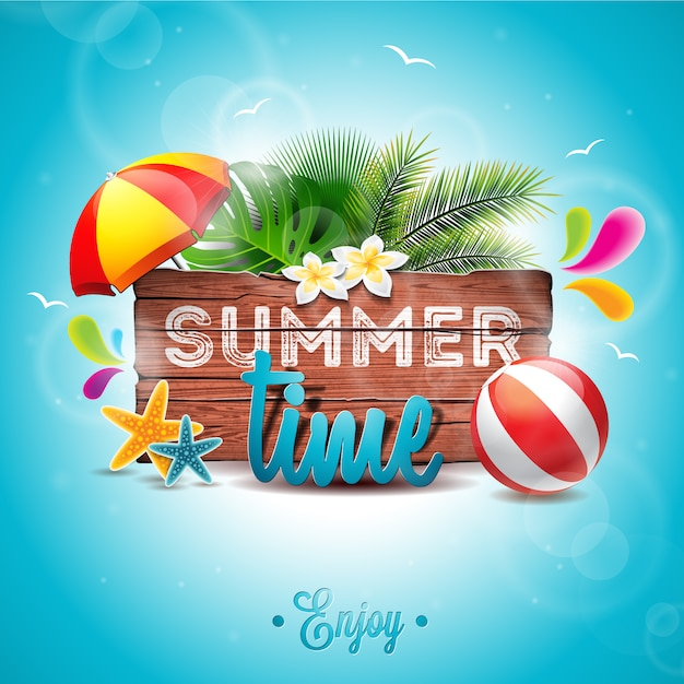 Summer vectors   60 600 free files in  AI   EPS format Summer time background palm tree design