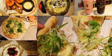 台南東區【Tino's Pizza Café 堤諾比薩-台南崇學店】萬聖節搞怪佈置十足樂趣.可愛星形披薩很吸睛.餅皮披薩雙風味口味多樣化/崇德市場/德光女中