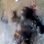 【グロ注意】アサド兵士をガソリンをぶっかけて丸焦げにする映像