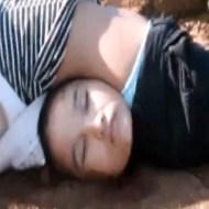 【グロ動画:殺人】彼女を殺して首を切断・・・道に放置するキチガイ・・・