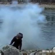 【衝撃映像】花火で悪ふざけ→暴発→腕が吹き飛ぶ・・・