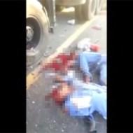 【グロ動画】砕石事故で散乱した大量のグロ死体