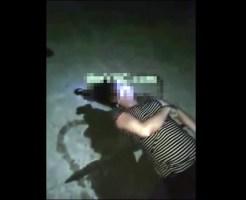 【グロ動画】引き揚げられた飛び込み自殺した女性の水死体・・・