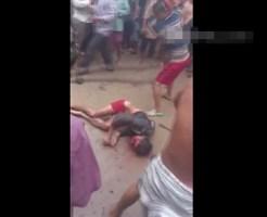 【グロ動画】母娘を惨殺した男を総出で捕らえる一部始終・・・