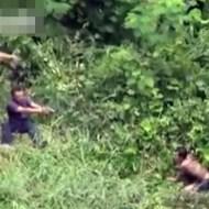 【閲覧注意】逃げる手榴弾強盗を追い込み射殺する一部始終