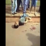 【衝撃映像】犯罪者を暴力で裁くとこうなる・・・ ※グロ注意