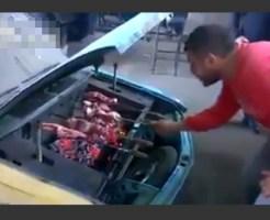 【衝撃映像】古い車がBBQ専用カーにトランスフォームした件www