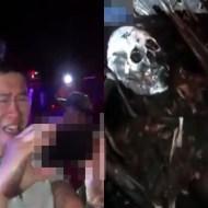 【グロ注意】車ごと燃え白骨化した死体を見た友人のリアクションが炎上モノ・・・