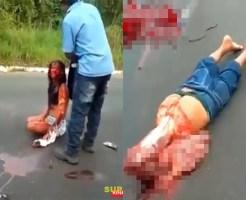 【閲覧注意】血塗れの妻、その横に真っ二つの夫と即死した娘が・・・