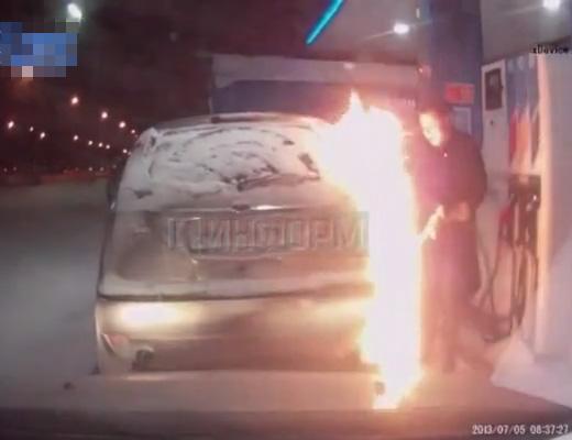 【DQN事故】DQN「給油口凍ってるやんけどないしよ…。せや、火つけたらええやんけ!」→結果www