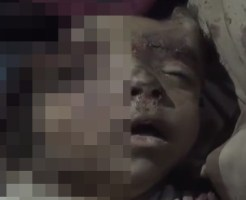 【グロ動画】子供の近くに砲弾が着弾したら・・・ ※閲覧注意
