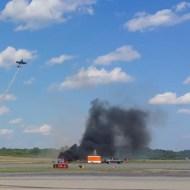 【衝撃映像】目の前に飛行機が墜落する瞬間を撮影した一部始終・・・