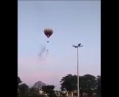 【DQN】気球にロケット花火付けて飛ばしたら大惨事になった助けて! ※衝撃映像