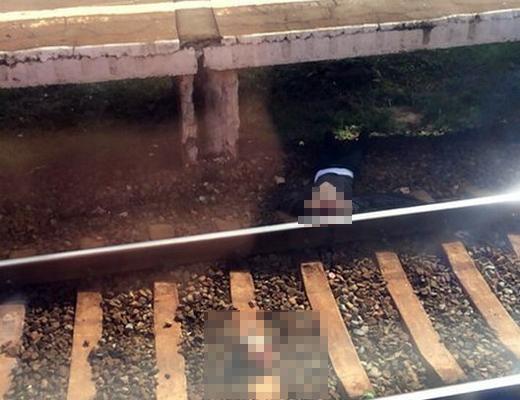"""【閲覧注意】人身事故で電車が止まった """"その駅"""" にいた人が撮った写真・・・"""