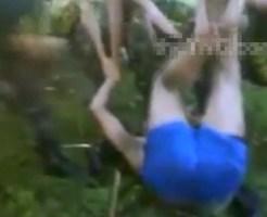 【閲覧注意】武装組織に捕まって処刑される前に受ける拷問が上位のお尻ペンペン