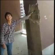 【衝撃映像】中国で家購入しようとしてる奴はこれ見て考えなおせw手で家破壊できるチャイナクオリティwww