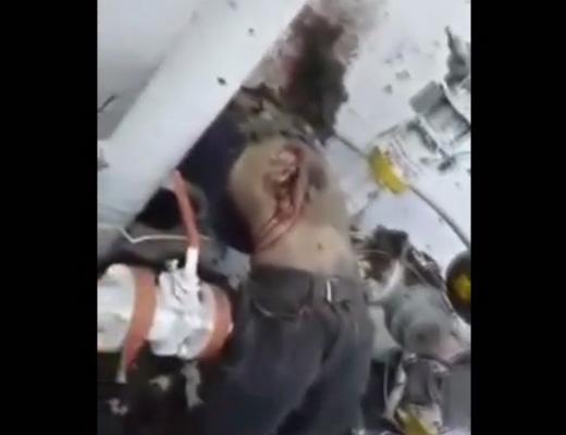 【グロ動画】死因は吹き飛んだ衝撃で壁頭クラッシュの模様・・・in天然ガス爆発現場 ※閲覧注意