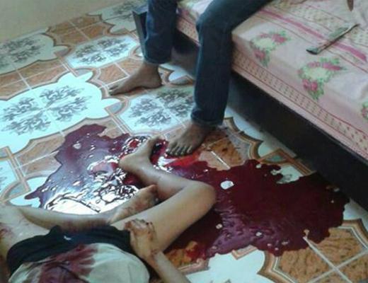 【閲覧注意】本気の夫婦喧嘩・・・殺し合いにに発展して引き分け死亡