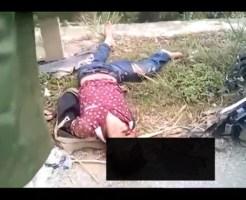 【グロ動画】頭を強打して倒れこむ少年・・・必死で呼吸しようとする姿をそのまま撮影・・・