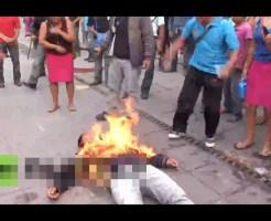 【閲覧注意】刑務所前で自分に火をつけて抗議!思ったより火が強かったため・・・