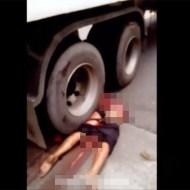 【グロ動画】フィリピンで起きた事故・・・男女3人が肉塊に成り果てる・・・