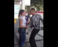 【衝撃映像】キレた男女が喧嘩・・・男が本気パンチでノックアウト・・・