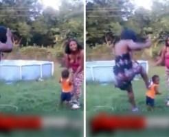 【喧嘩】女同士のケンカで相手の女の赤ちゃんを思いっきり蹴るやつ・・・