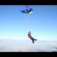 【閲覧注意】スカイダイビング ⇒ 電線に落ち感電死した18歳の女の子の視点カメラ怖すぎ