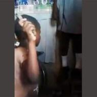 【閲覧注意】自殺したお姉ちゃんを棒で叩く10歳の女の子