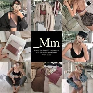 _Mm 居家內著 | 舒適時髦系列 無鋼圈棉質內衣&拼色Bra Top