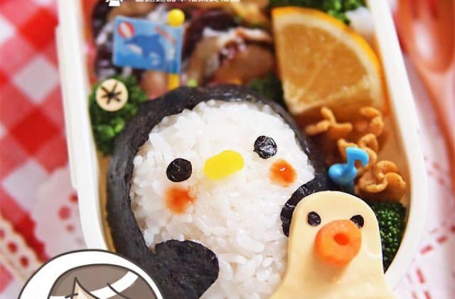 【造型便當日記】南極企鵝便當…為什麼會有章魚