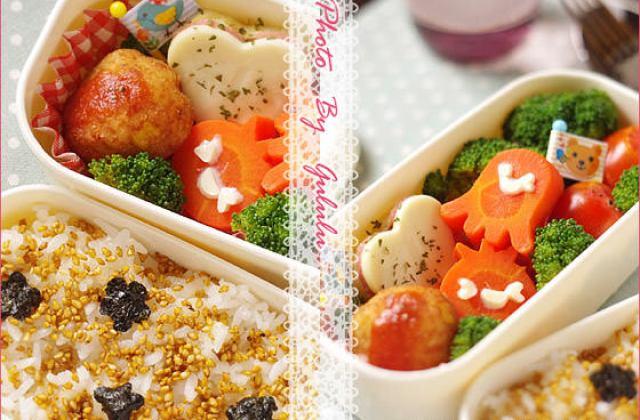 【造型便當日記】蔬食便當裝可愛 ♥ 心花朵朵~做法不麻煩
