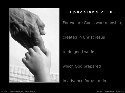 Inspirational illustration of Ephesians 2:10