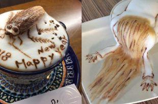 「神乎其技的咖啡立體拉花」 看完這12張圖,才知道為什麼這間店可以紅到國外-台灣美食懶人包