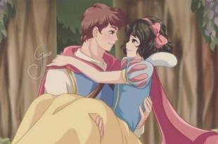 「8位日本畫風的迪士尼公主實在太可愛!」白雪公主和王子超絕配,小美人魚是標準日本動漫女主!– 動漫的故事