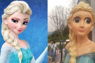 毀童年!「山寨動漫娃娃果然是大陸最厲害」《冰雪奇緣》Elsa成為孩子的惡夢,柯南、皮卡丘、米老鼠等動畫無一幸免!-動漫的故事