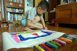 [同大爺私物] 小小孩的第1套美術用品|英國Little Brian可洗無毒兒童專用水彩棒