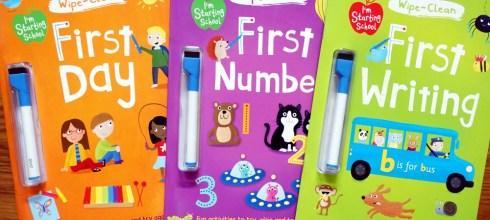 實用的Starting School運筆書-下篇 小小孩的First系列擦寫書(生活認知/數字/字母)
