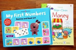 學齡前數學邏輯|擦寫書WipeClean Money怪獸買東西|數字骨牌遊戲書盒