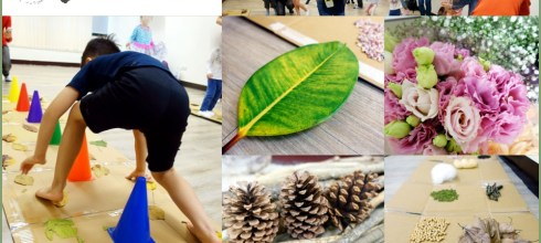 小創客201804活動|如何讓孩子在遊戲中控制力道:松果槌球自製桌遊+感覺大地花草課