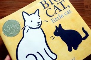 美國圖書館協會評選年度必讀繪本|Big Cat, Little Cat|2018年凱迪克銀獎
