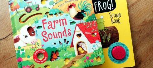 [觸摸立體壓鈕音效書] 英國Usborne Farm Sounds,還有Oi Frog! Sound Book