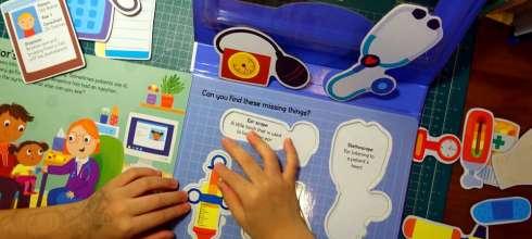 陪同大爺快5年的角色扮演拼圖書盒|新書Let's Pretend Doctors Bag醫生小提包